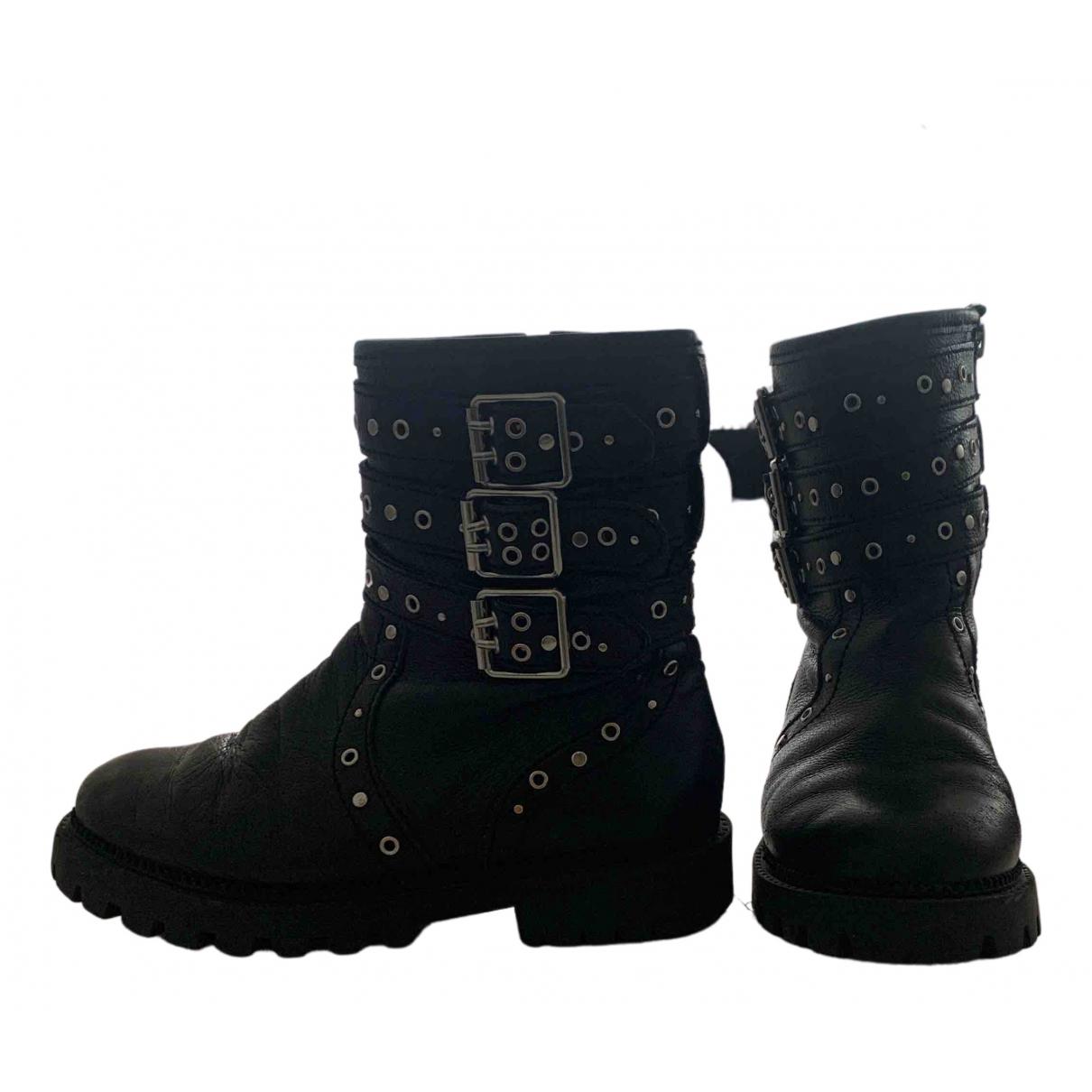 Zara - Bottes.Bottines   pour enfant en cuir - noir