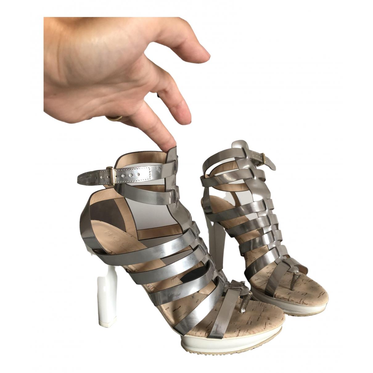Hogan \N Sandalen in  Silber Leder