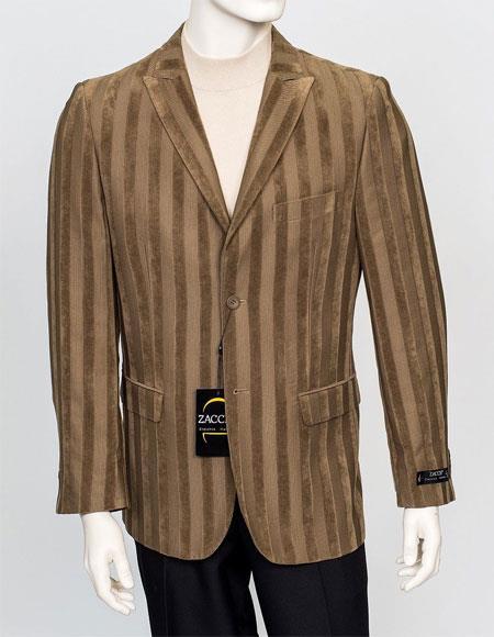 Zacchi Mens Fashion Sport Coat - Chenille Twill Stripe