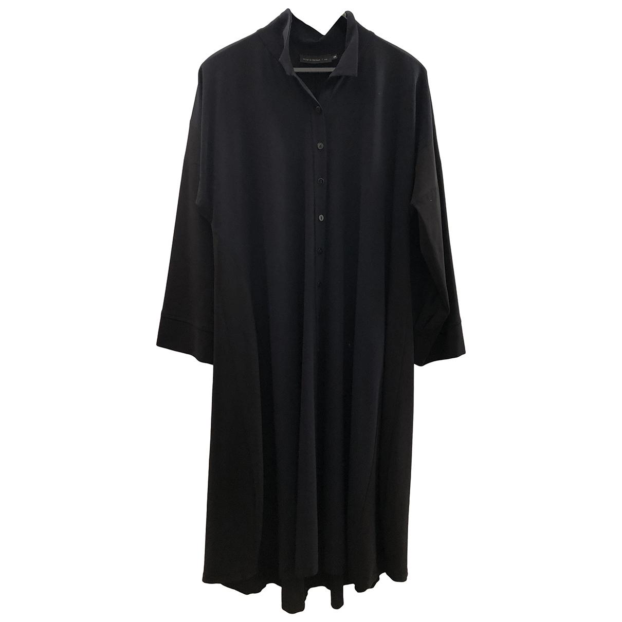 Miller Et Bertaux \N Navy Wool dress for Women 3 0-5