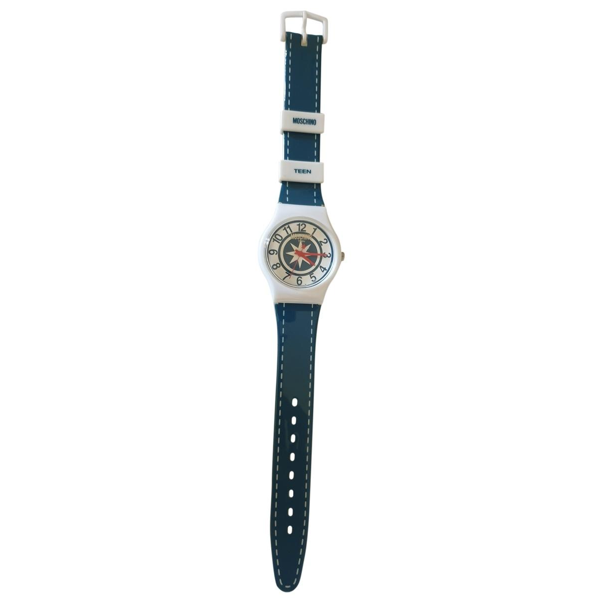 Moschino \N Uhr in  Tuerkis Stahl