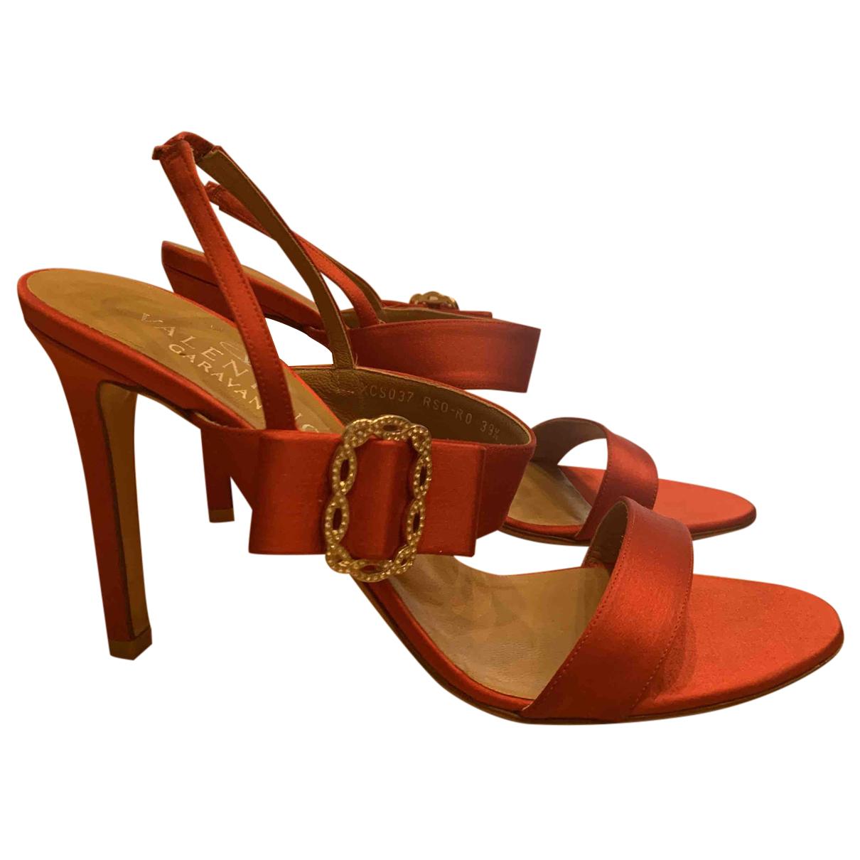 Valentino Garavani N Red Leather Sandals for Women 39.5 EU