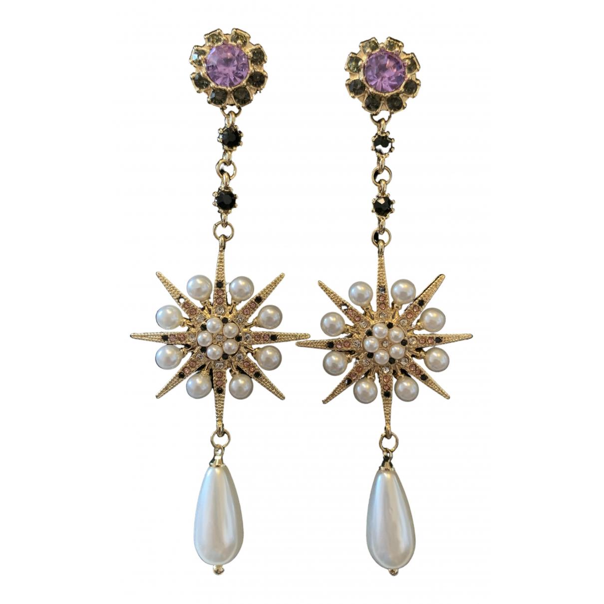 Non Signé / Unsigned Motifs Etoiles Multicolour Metal Earrings for Women \N