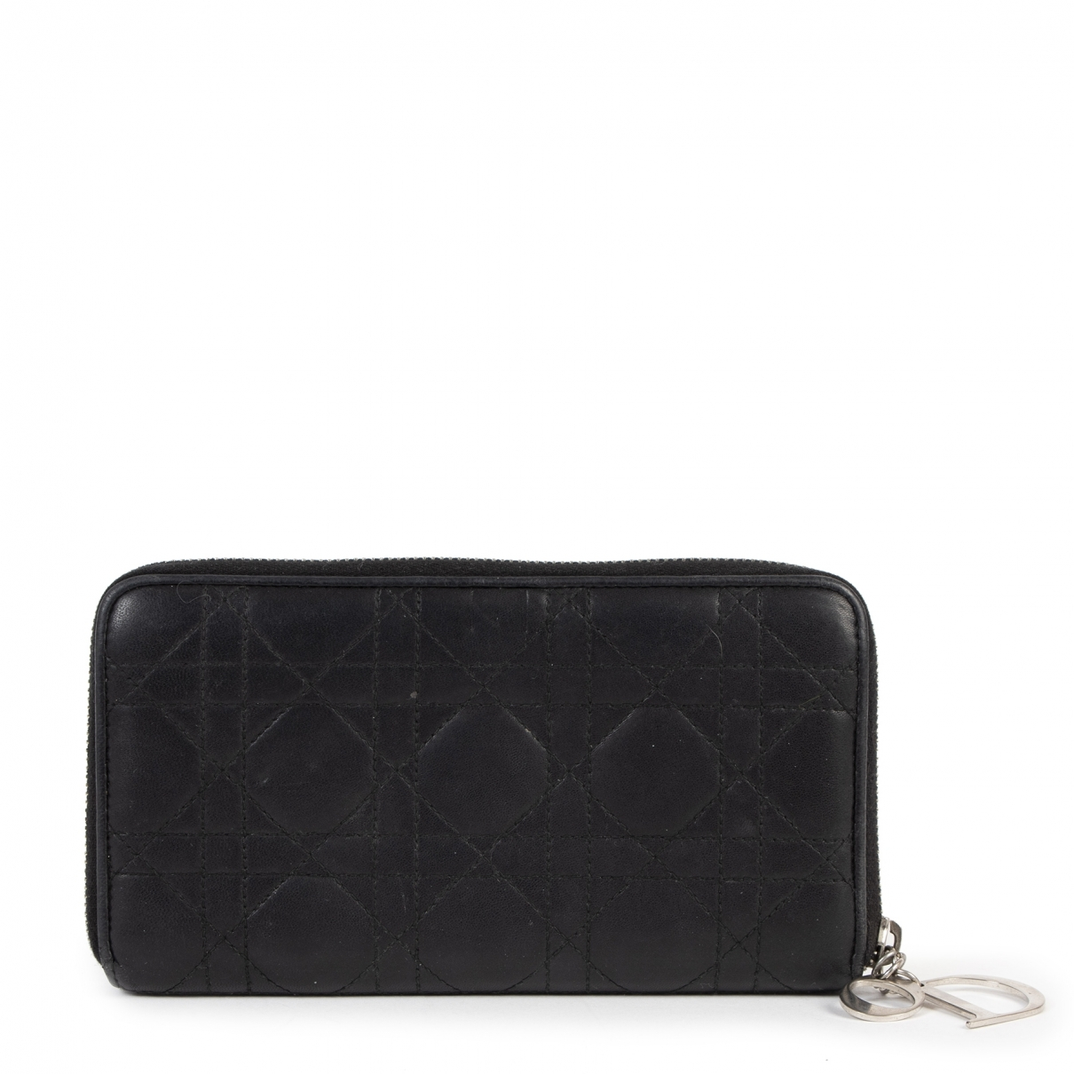 Dior - Portefeuille Lady Dior pour femme en cuir - noir