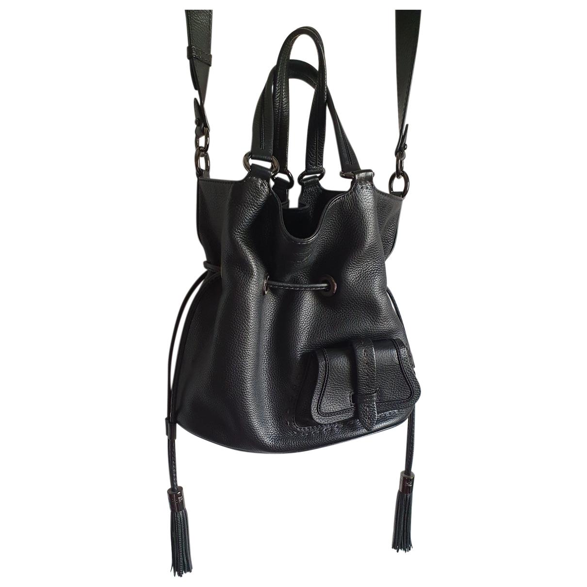 Lancel 1er Flirt Handtasche in  Schwarz Leder