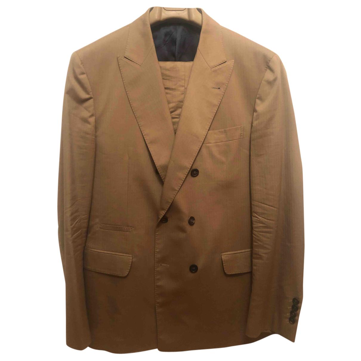 Brunello Cucinelli - Costumes   pour homme en coton - beige