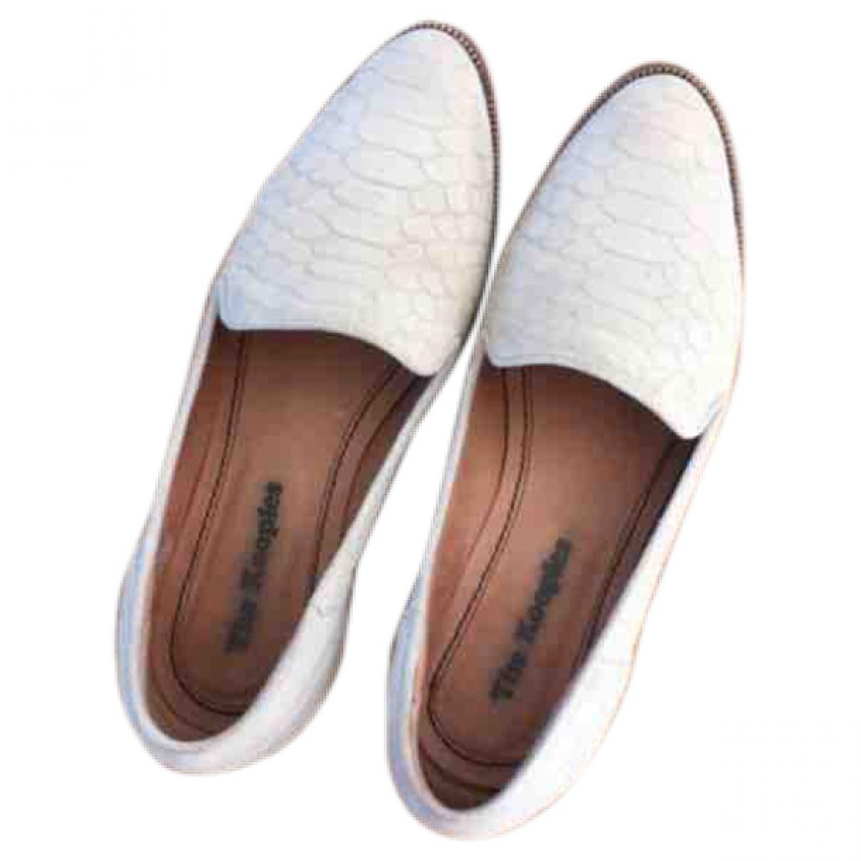 The Kooples \N Beige Leather Flats for Women 37 EU