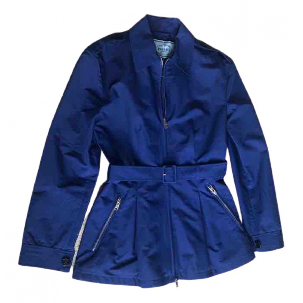 Prada - Trench   pour femme en coton - bleu