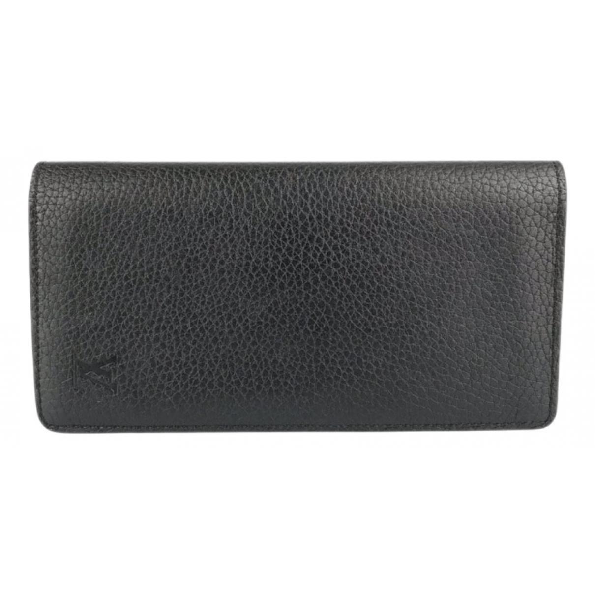 Louis Vuitton - Petite maroquinerie Brazza pour homme en cuir - noir