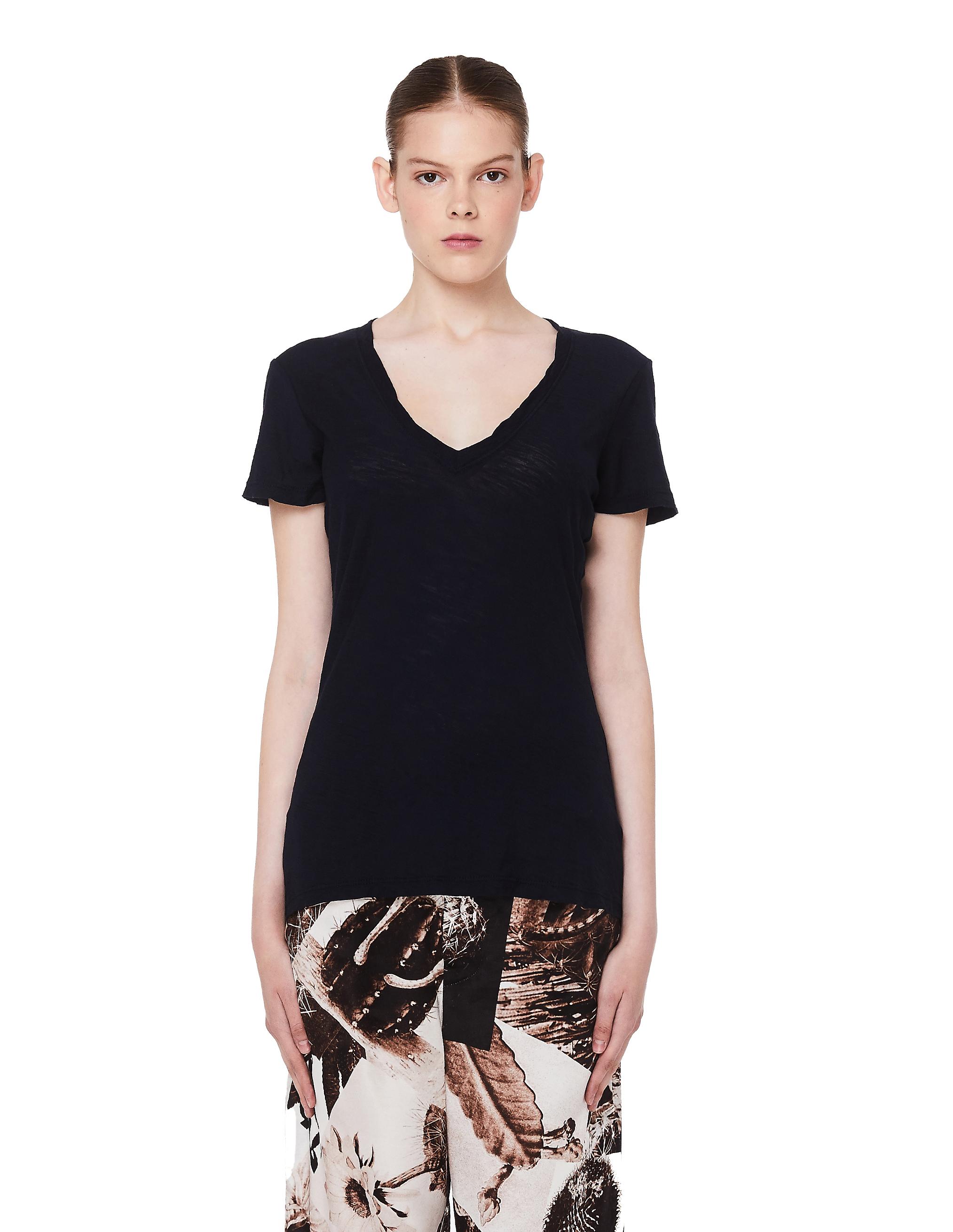 James Perse Deep Blue Cotton T-Shirt