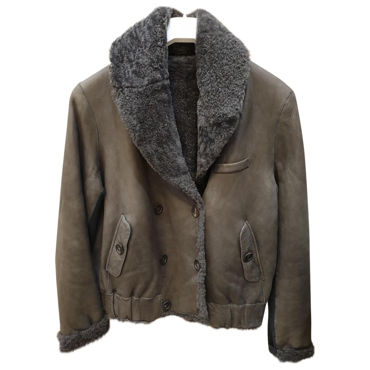 Brunello Cucinelli \N Brown Shearling jacket for Women 42 IT
