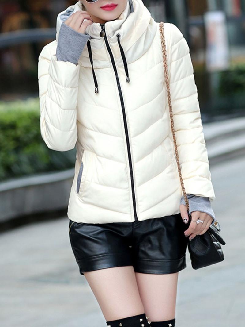 Ericdress Slim Zipper Standard Womens Cotton Padded Jacket