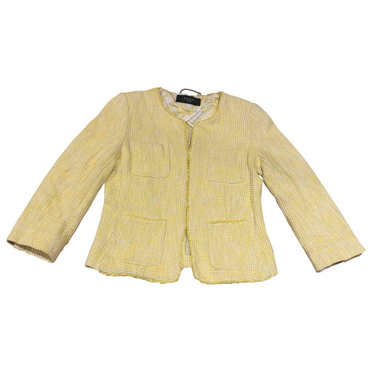 Max Mara Weekend - Veste   pour femme en tweed - jaune