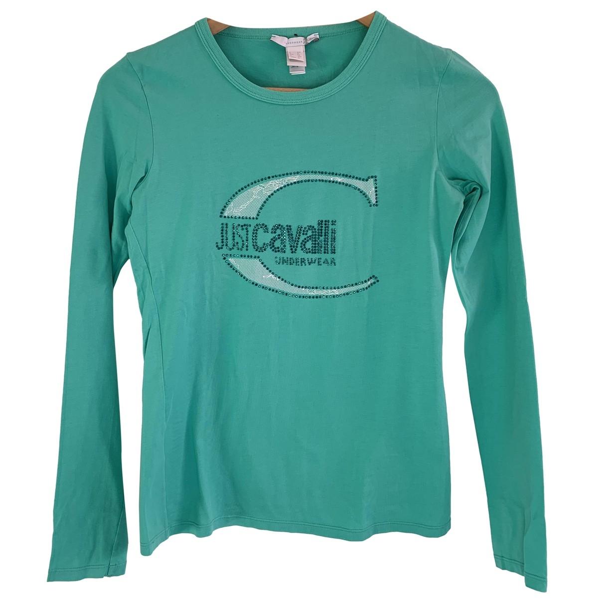 Just Cavalli \N Top in  Tuerkis Baumwolle