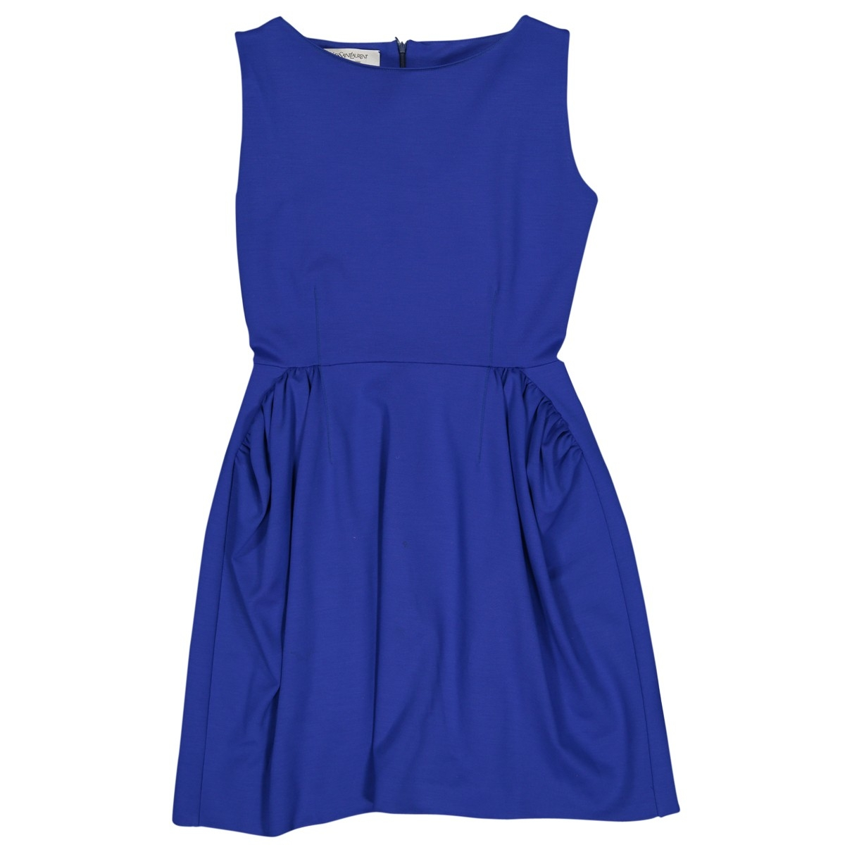 Yves Saint Laurent \N Kleid in  Blau Wolle