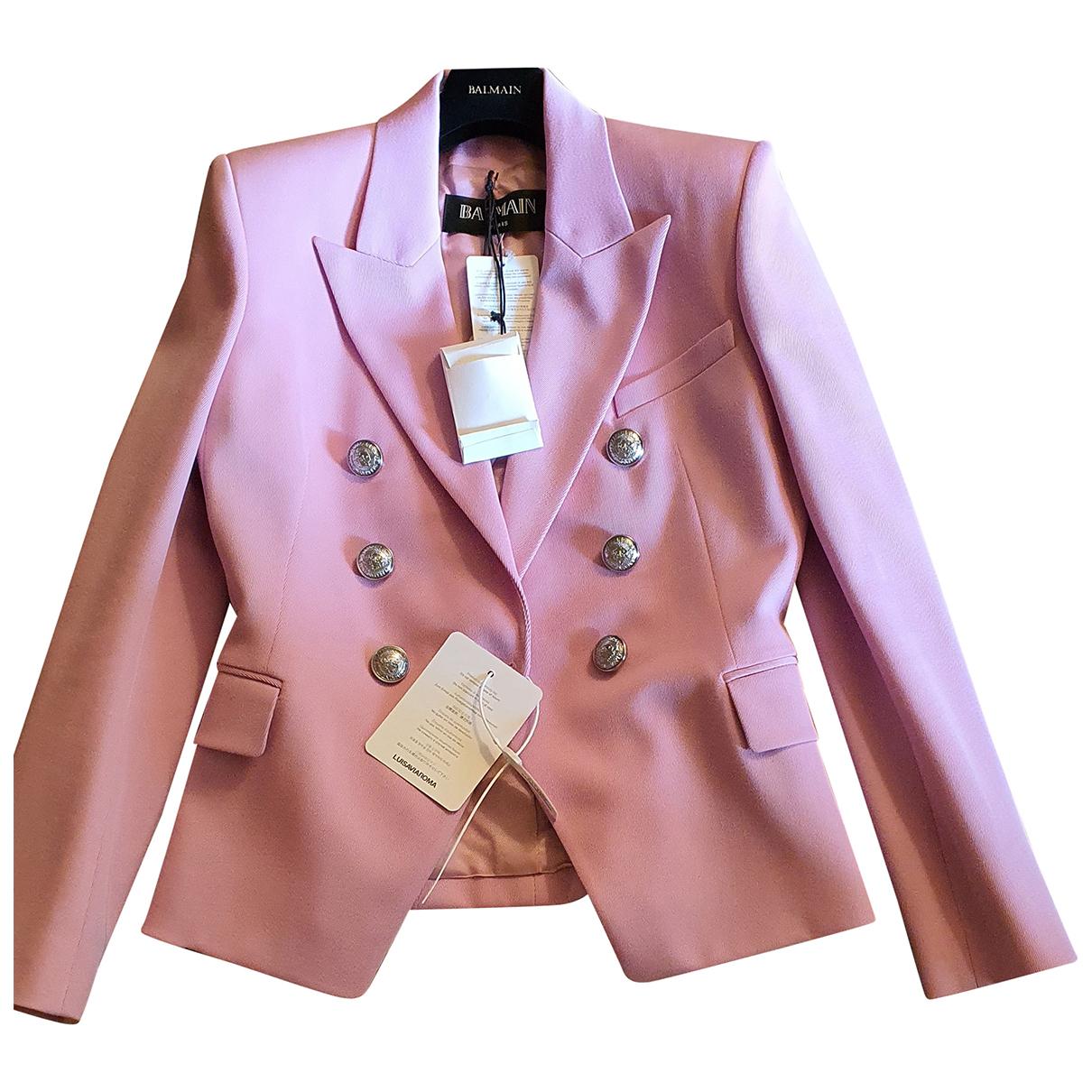 Balmain - Veste   pour femme en coton - rose