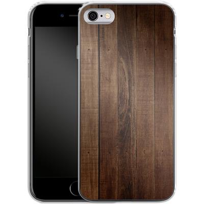 Apple iPhone 6 Silikon Handyhuelle - Dark Wood Floor von caseable Designs