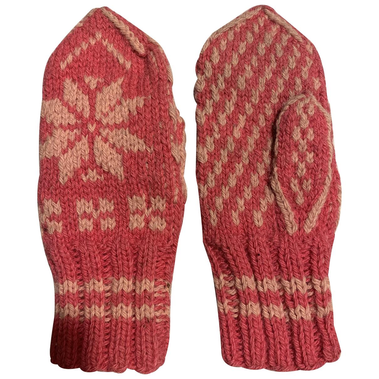 Non Signe / Unsigned \N Hut, Muetzen, Handschuhe in  Rosa Wolle