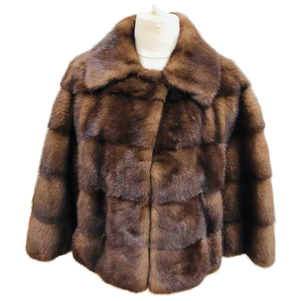 32 Paradis Sprung Freres \N Brown Mink jacket for Women 36 FR