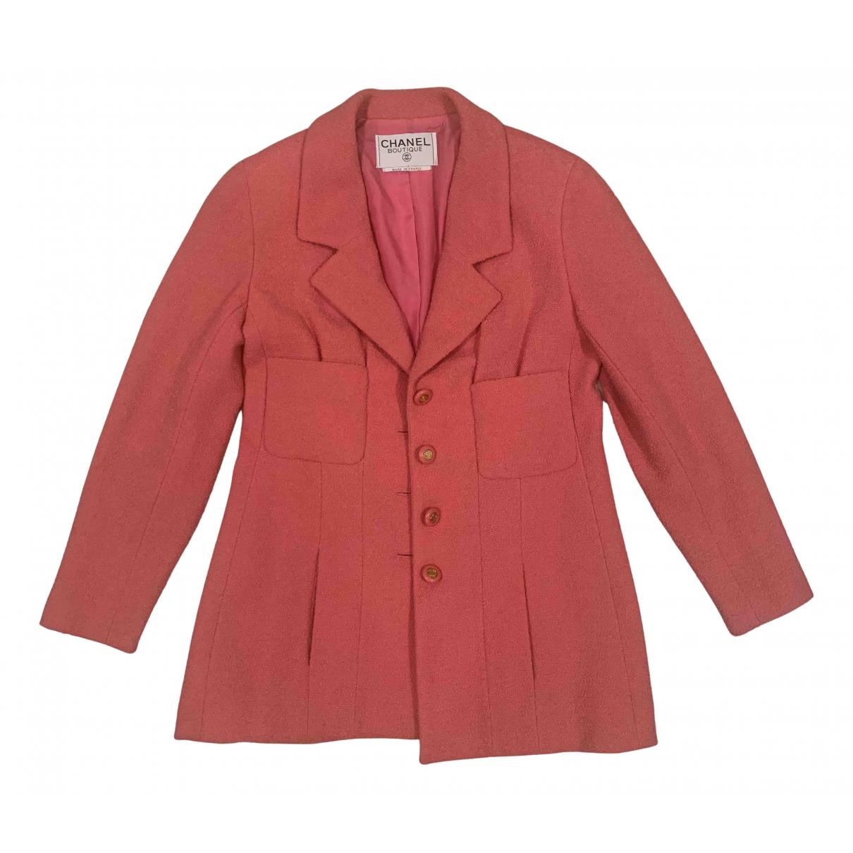 Chanel N Pink Wool jacket for Women 40 FR