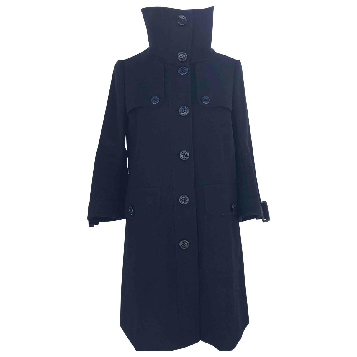 Burberry \N Black Wool coat for Women 38 FR