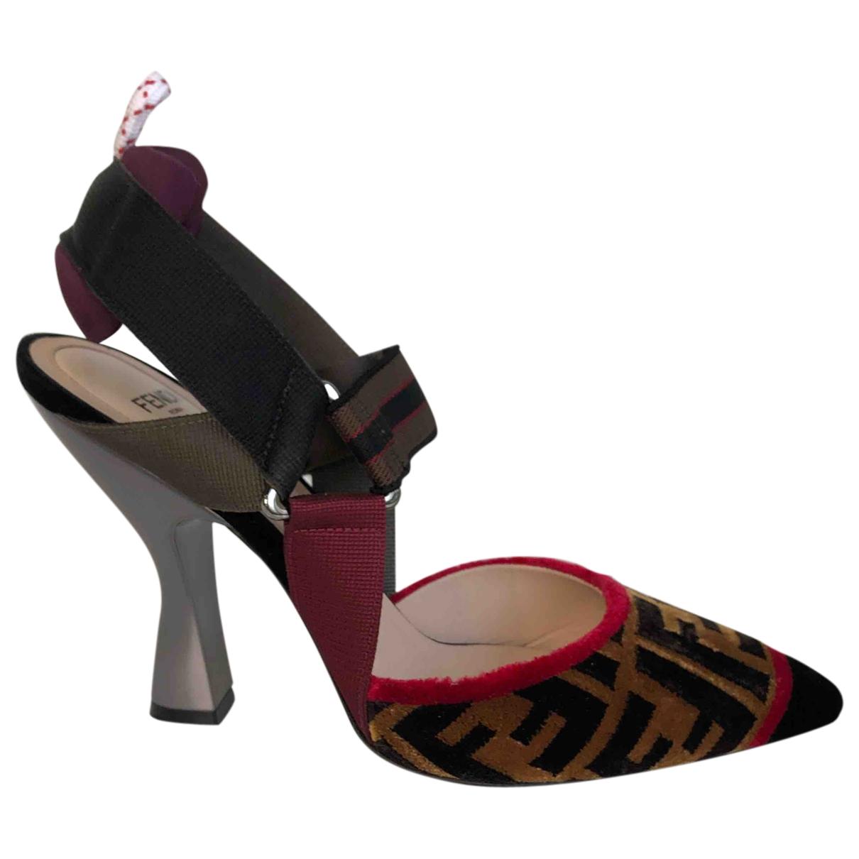 Fendi - Escarpins Colibri pour femme en velours - multicolore