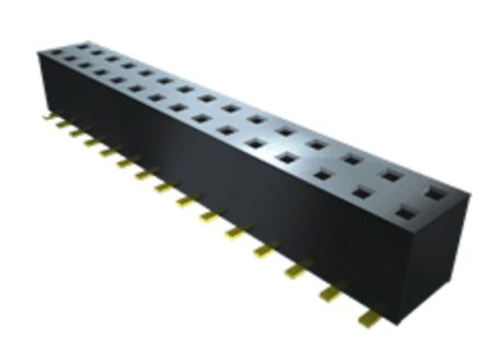 Samtec , TLE 2mm Pitch 8 Way 2 Row Straight PCB Socket, Surface Mount, Solder Termination (71)