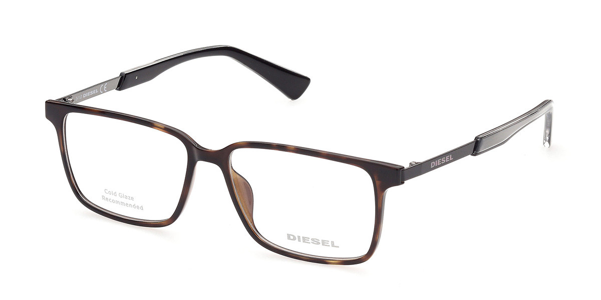 Diesel DL5290 052 Men's Glasses Tortoise Size 53 - Free Lenses - HSA/FSA Insurance - Blue Light Block Available