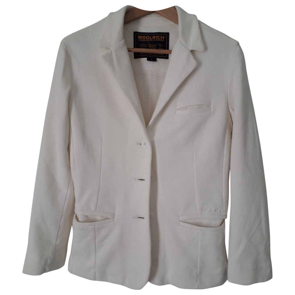 Woolrich - Veste   pour femme en coton - blanc