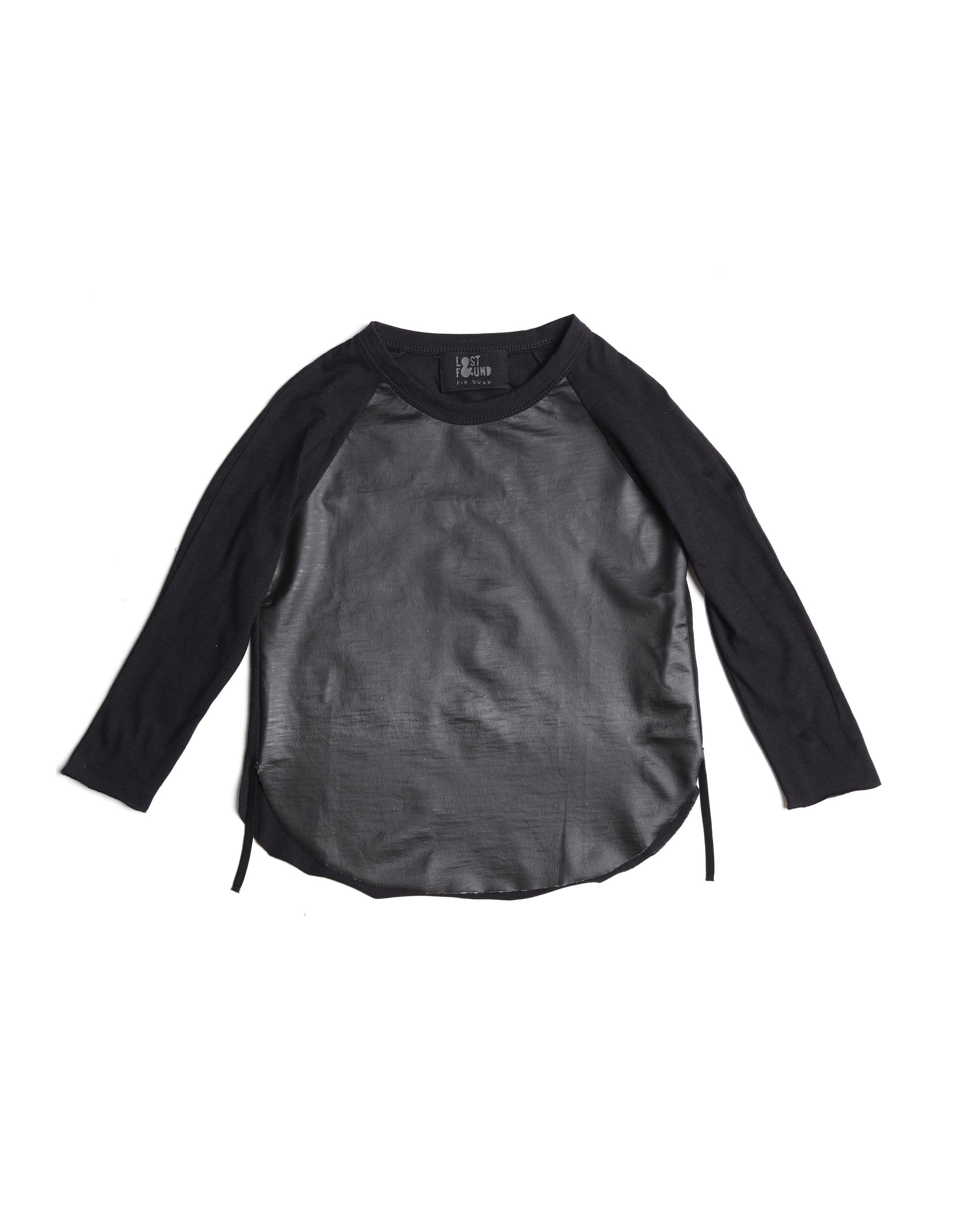 Lost&Found kids Black Cotton Long Sleeve T-Shirt