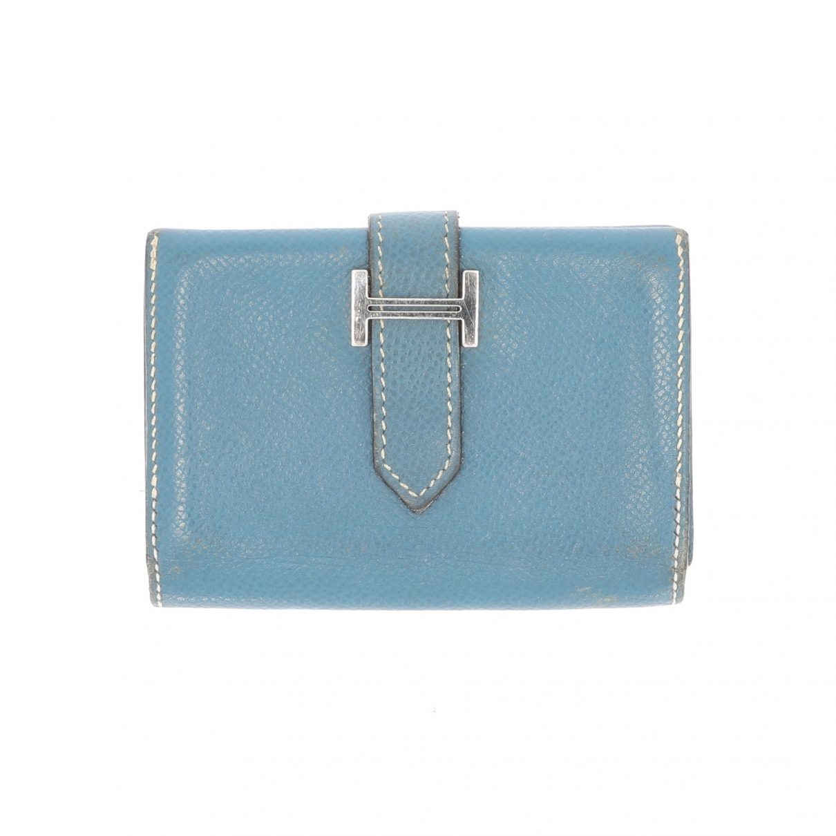 Hermès Béarn Blue Leather Purses, wallet & cases for Women \N