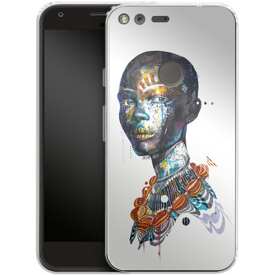Google Pixel XL Silikon Handyhuelle - Zebra von Minjae Lee