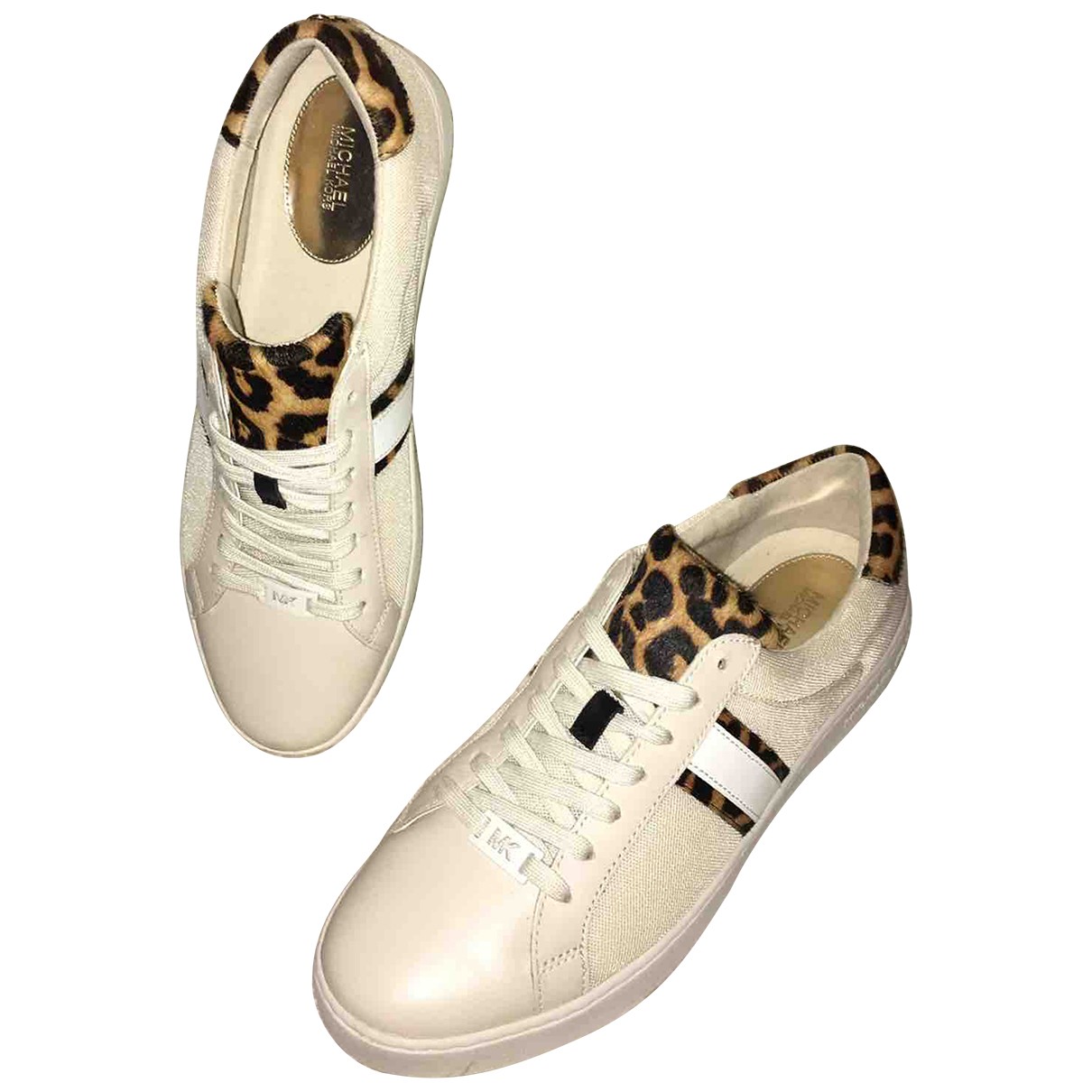 Michael Kors N Beige Leather Trainers for Women 39 EU
