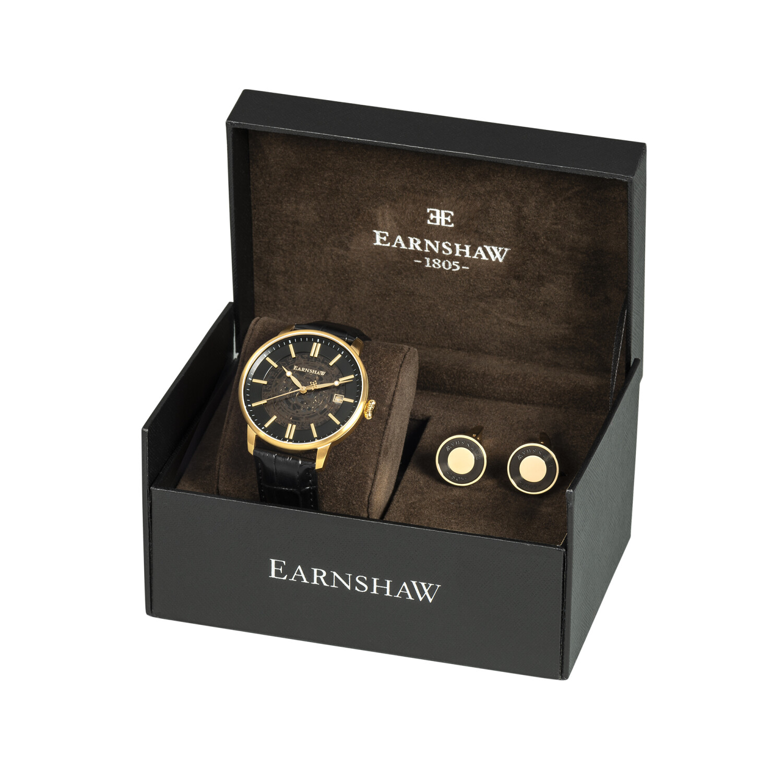 Thomas Earnshaw Men's Vancouver Skeleton Automatic ES-8075-SETA-02 Black Leather Japanese Fashion Watch