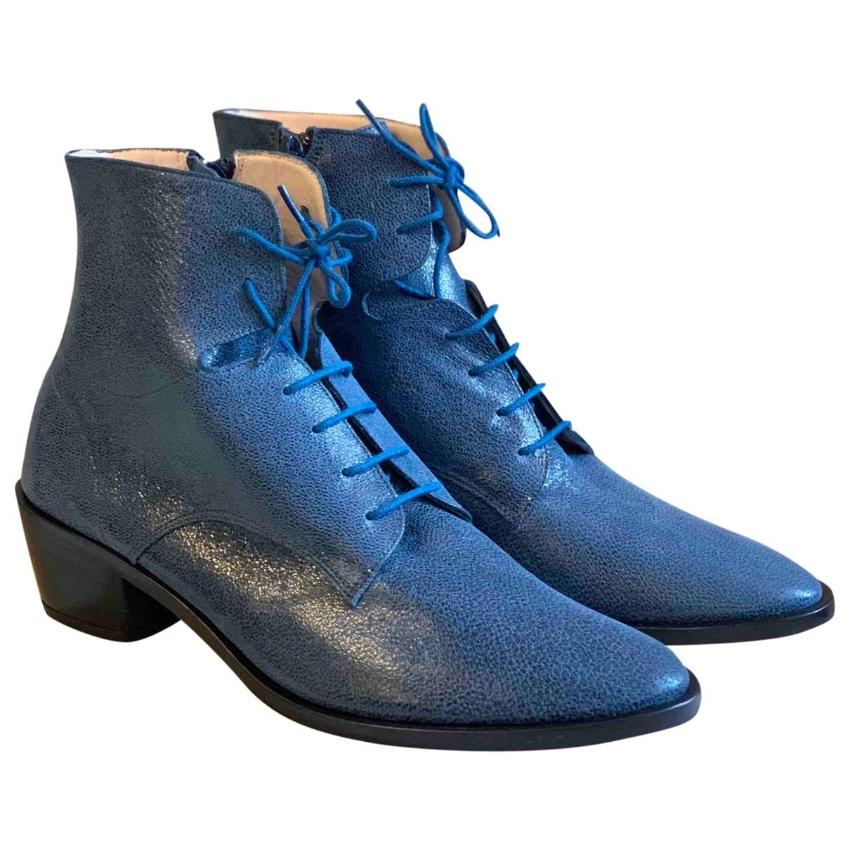 Repetto \N Stiefeletten in  Blau Leder