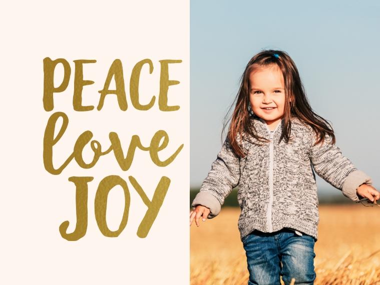 Holidays Designer Ornament (Metal), Gift -Peace Love Joy