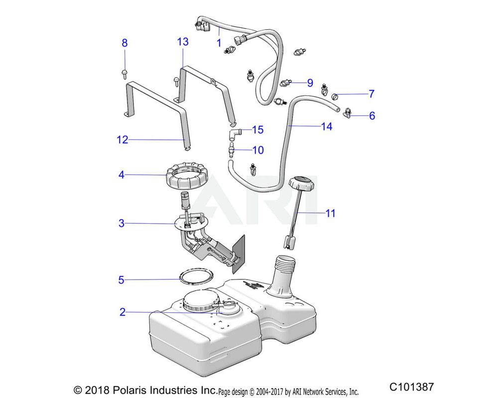 Polaris OEM 2522076 ASM-FUEL TANK | [INCL. 3]