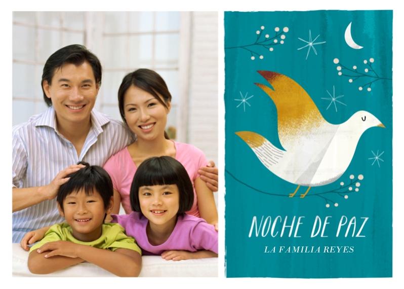 Tarjetas de Navidad 5x7 Cards, Premium Cardstock 120lb with Scalloped Corners, Card & Stationery -Noche de Paz