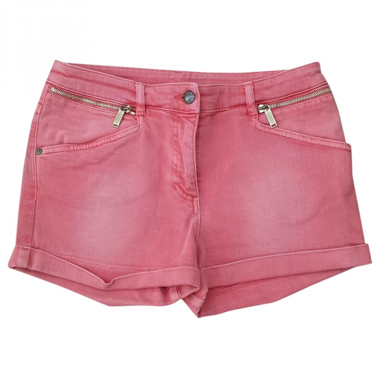 Matthew Williamson For H&m \N Pink Denim - Jeans Shorts for Women 36 FR