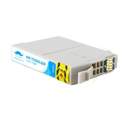 Compatible Epson T252XL220 - 252XL cartouche d'encre cyan haute capacite - Moustache - 10/paquet
