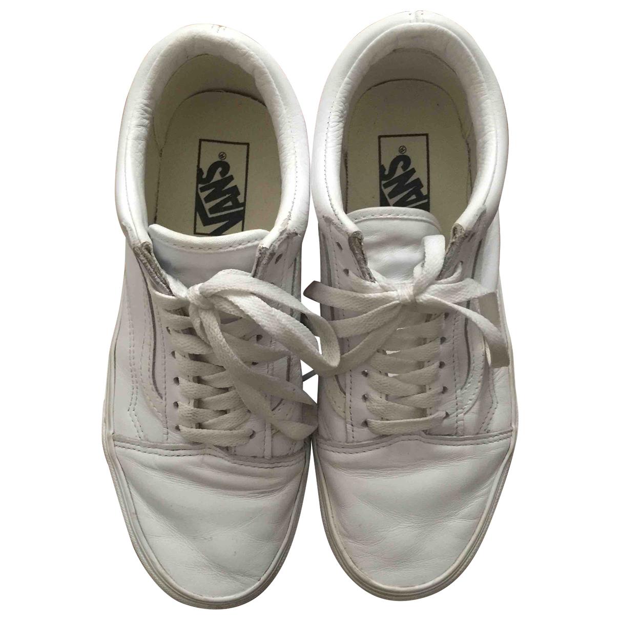 Vans \N Sneakers in  Weiss Leder