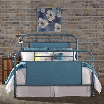 Vintage Series 179-BR15HFR-BL King Size Metal Bed with Turned Spindles Headboard and Footboard in