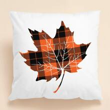 Maple Leaf Print Cushion Cover Without Filler