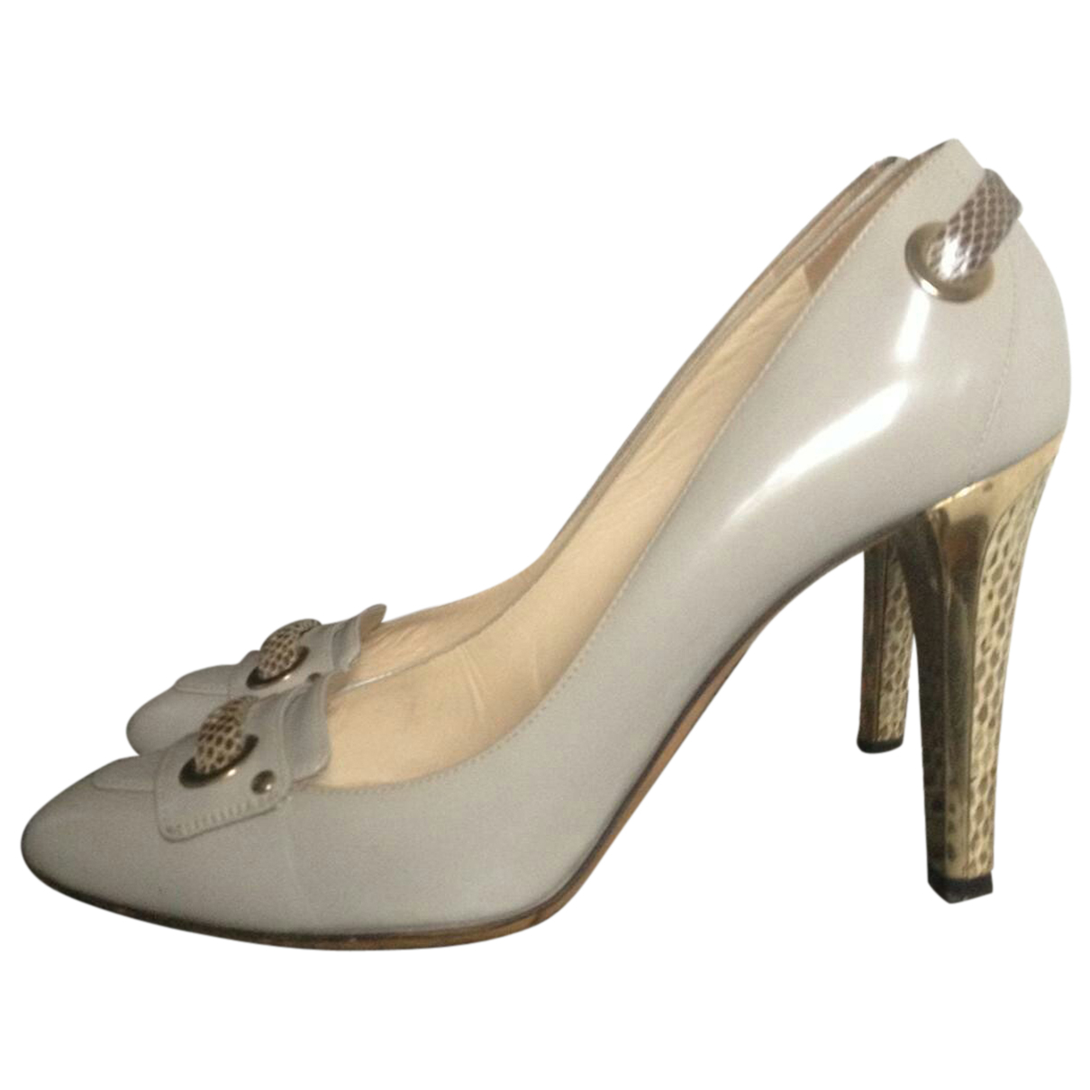Jimmy Choo N Grey Leather Heels for Women 38 EU