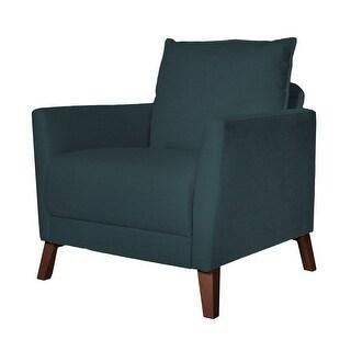 Derna Upholstered Accent Chair (Blue)
