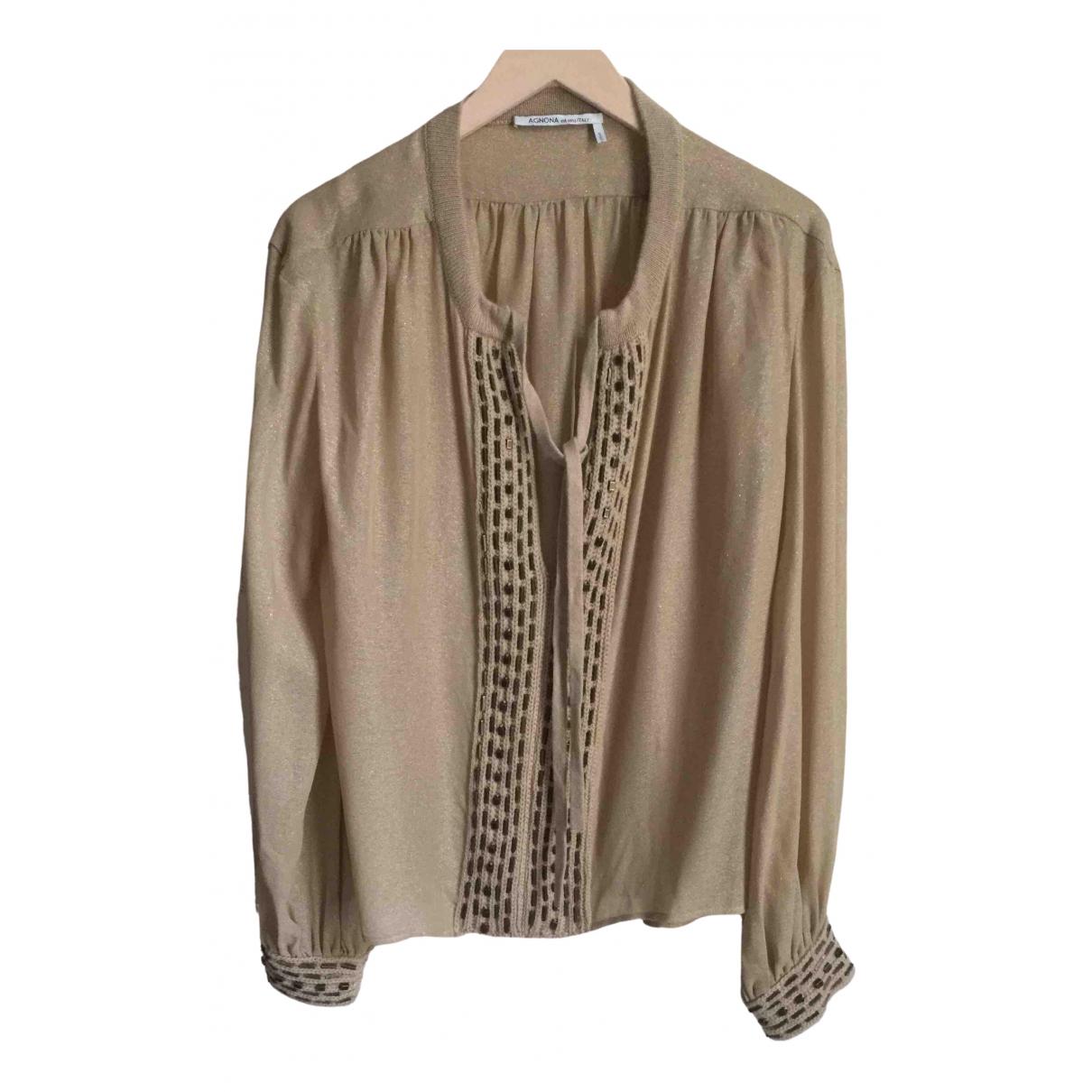 Agnona N Beige Cashmere Knitwear for Women 40 IT