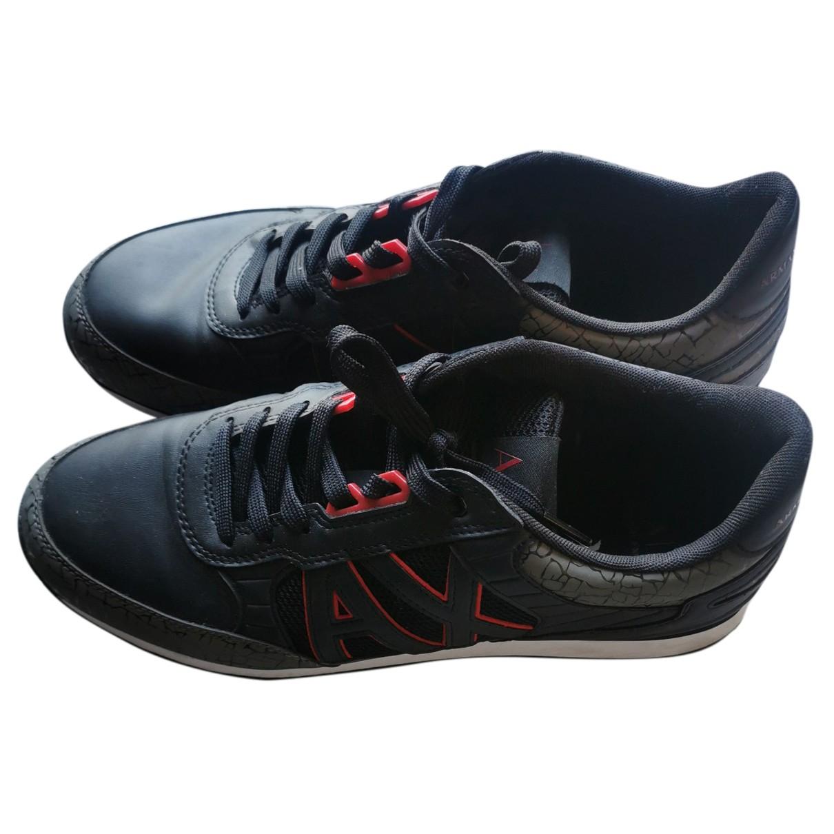 Emporio Armani - Baskets   pour homme en caoutchouc - noir