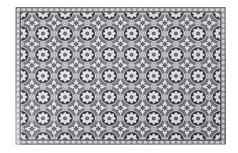 Vinyl-Teppich mit Zementfliesen-Motiven 100x150