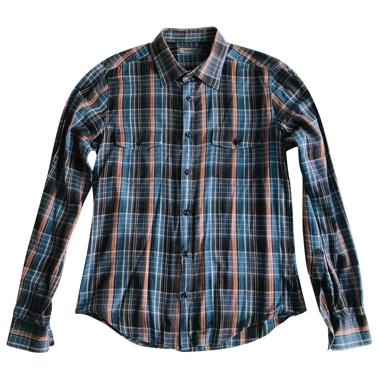 Dunderdon - Chemises   pour homme en coton - bleu