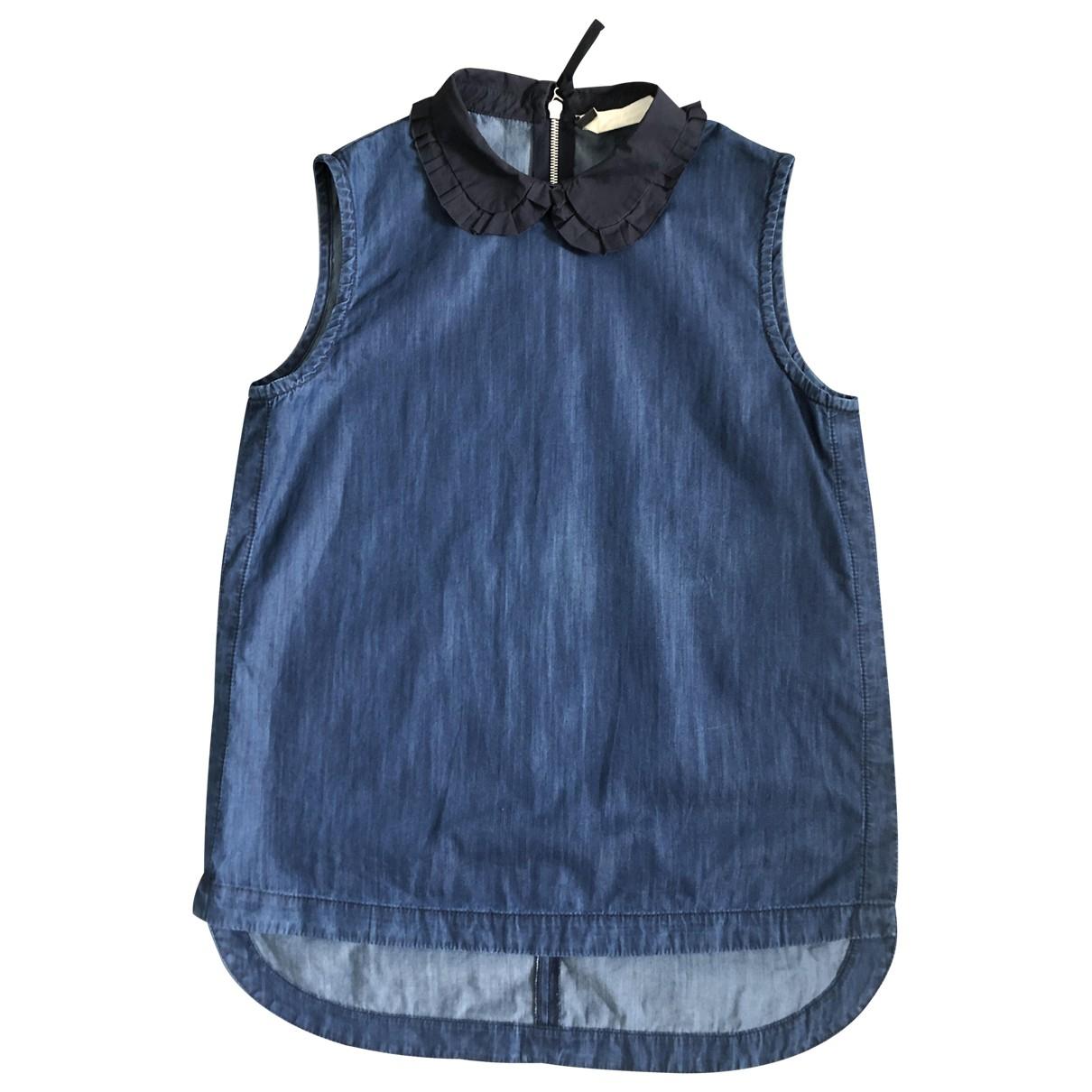 Marni - Top   pour femme en denim - bleu